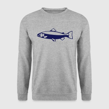 truite poisson fish peche silhouette 2 - Sweat-shirt Homme