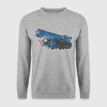 Mobile Crane 4-axle - Blue - Men's Sweatshirt