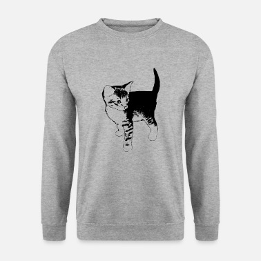 Katte Cat Stubentiger gaveide Pet - Herre sweater