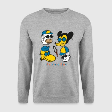 Ongeschoren Het is Comic Time - Mannen sweater