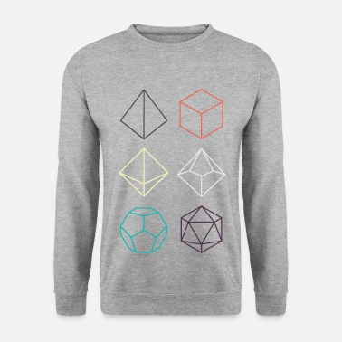 Minimal dnd (dungeons and dragons) dice - Men's Sweatshirt