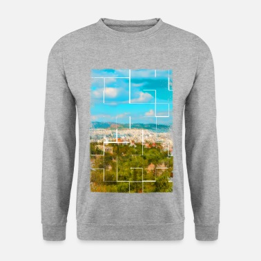Ancient Greece A distant view of ancient Athens in Greece - Men's Sweatshirt