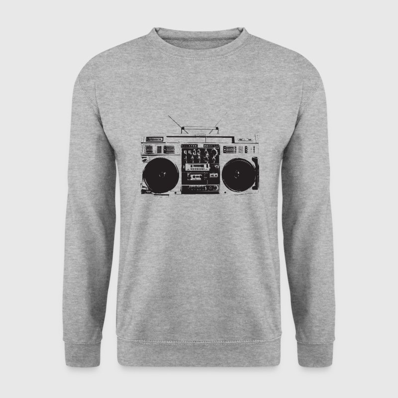 Ghetto blaster hiphop vintage - Sweat-shirt Homme
