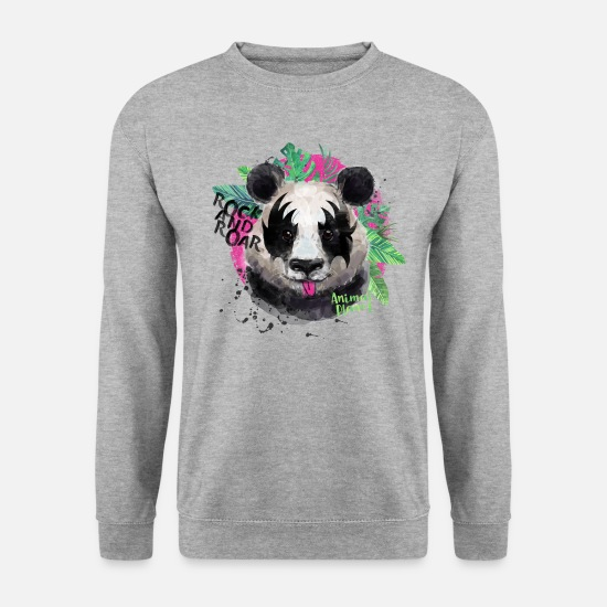 Animals Hoodies & Sweatshirts - Animal Planet Giant Panda Rock And Roar - Men's Sweatshirt salt & pepper