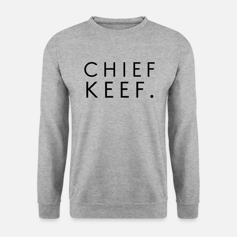 Chef Sweaters - Chief Keef - Mannen sweater witgrijs gemêleerd