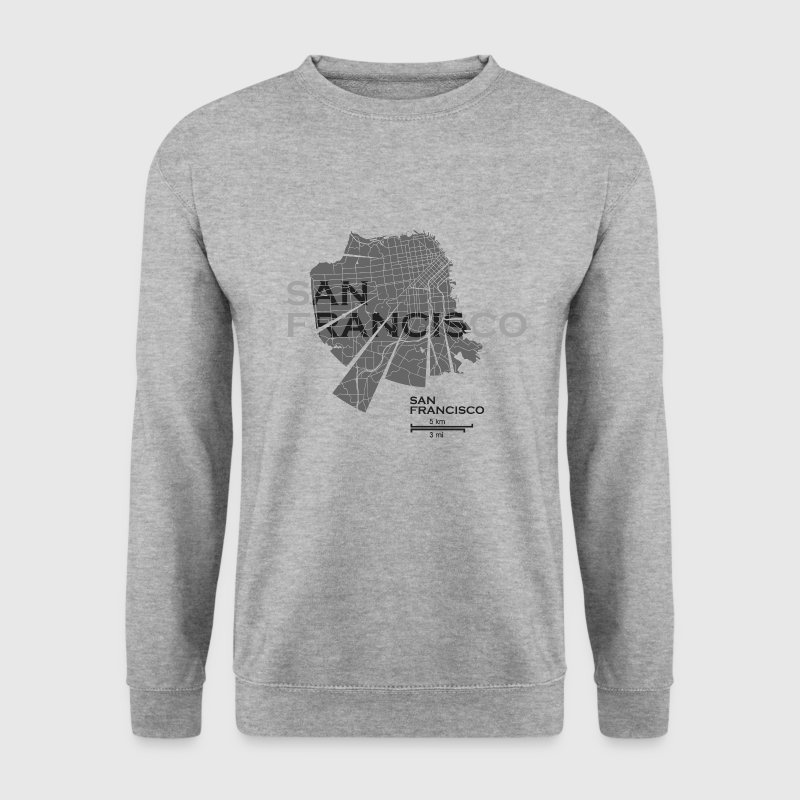 San Francisco plan - Sweat-shirt Homme