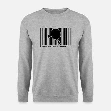 Raquette De Pingpong code barre pingpong tennistable raquette - Sweat-shirt Homme