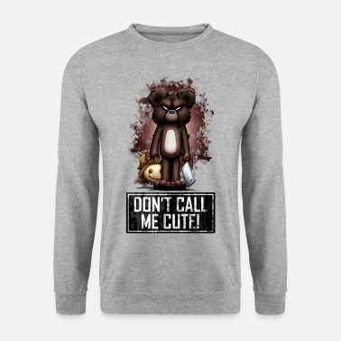 Halloween Teddy - Don't Call Me Cute (Color) - Men's Sweatshirt