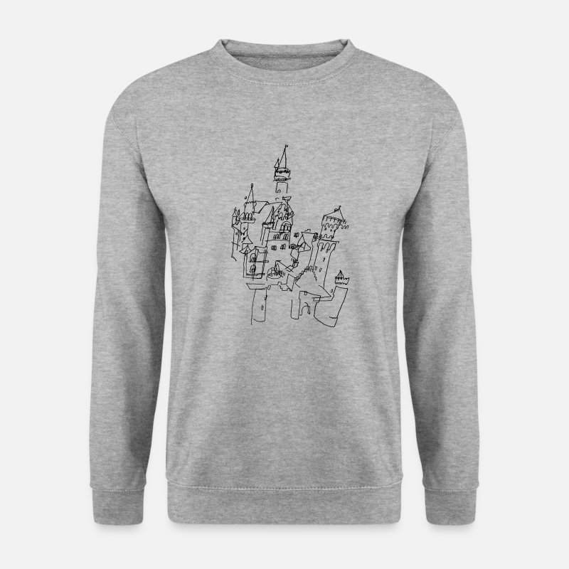 Bavaria Hoodies & Sweatshirts - Neuschwanstein Castle  - Men's Sweatshirt salt & pepper