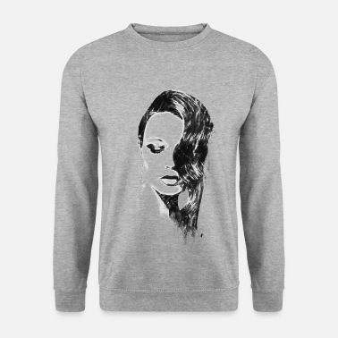 Illustration Illustration Illustration à l'encre en noir et blanc - Sweat-shirt Homme