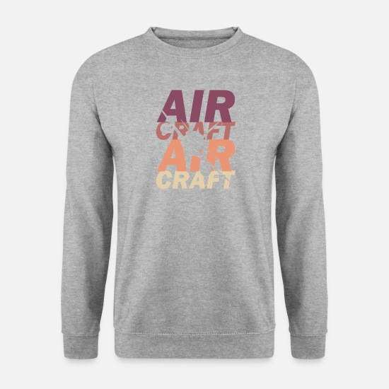 Vol Sweat-shirts - avion - Sweat-shirt Homme gris chiné