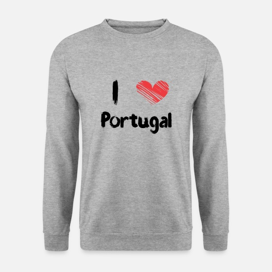 Love Sweat-shirts - I love Portugal - Sweat-shirt Homme gris chiné