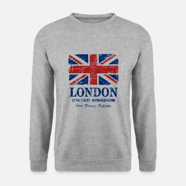 Angleterre Union Jack - London - Vintage Look  - Sweat-shirt Homme