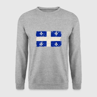 Québec Québec  Flag - Canada - Vintage Look - Sweat-shirt Homme