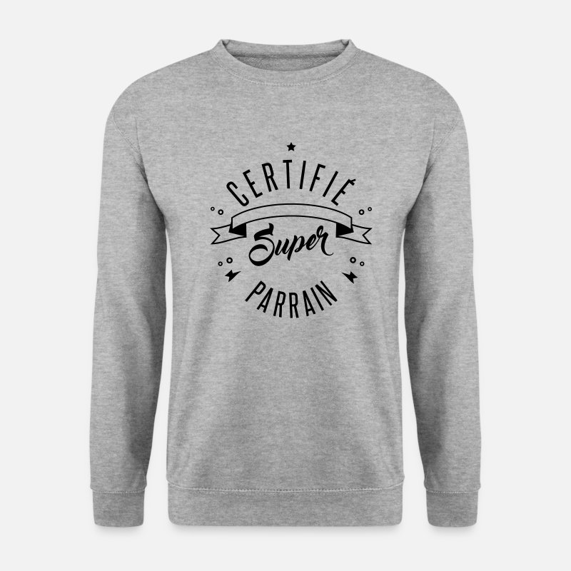 Parrain Sweat-shirts - certifié super parrain - Sweat-shirt Homme gris chiné
