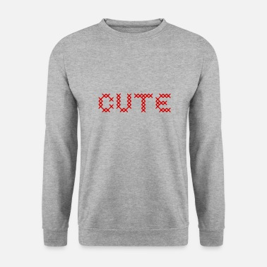 Croix Rouge CUTE au point de croix rouge - Sweat-shirt Homme