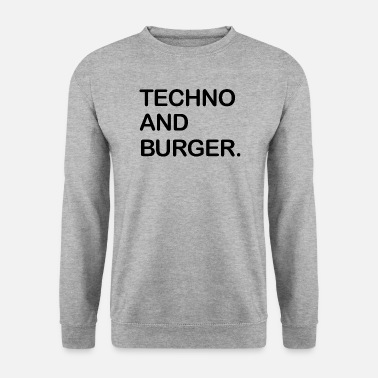 Techno e hamburger - Felpa da uomo