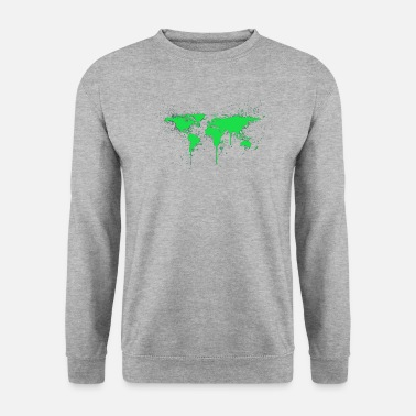 Bio Graffiti du monde vert - Sweat-shirt Homme