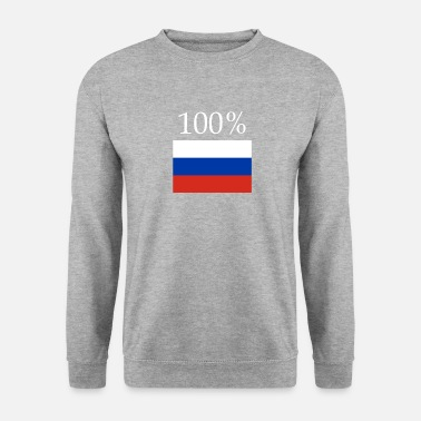 Russian 100% Russian Russia flag - Men's Sweatshirt