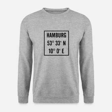 Latitude Hamburg black with latitude and longitude - Men's Sweatshirt