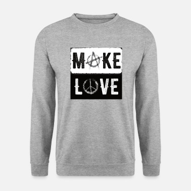 Anarchisme Make Love - Make Love - Black White - Yin Yang - Mannen sweater