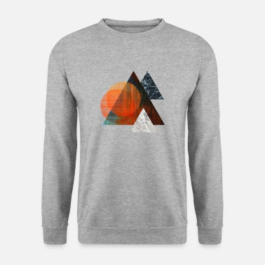 Abstraction Tout dans le triangle - Sweat-shirt Homme