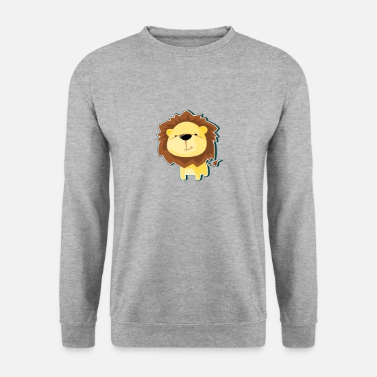 Présenter Sweat-shirts - Don de mascotte lion animal animaux d'Afrique - Sweat-shirt Homme gris chiné