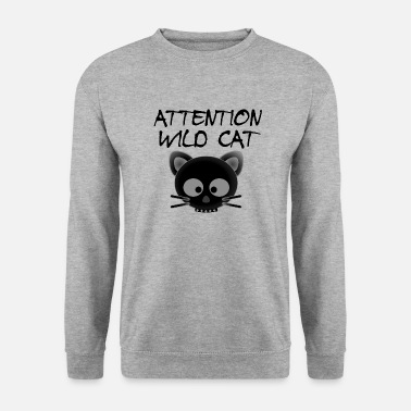 Wild Cat Attention Wild Cat - Sweat-shirt Homme
