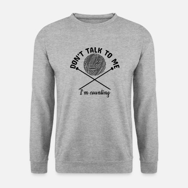Uld Strikning Funny Sayings Strikket Tråd Garn Gift - Herre sweater