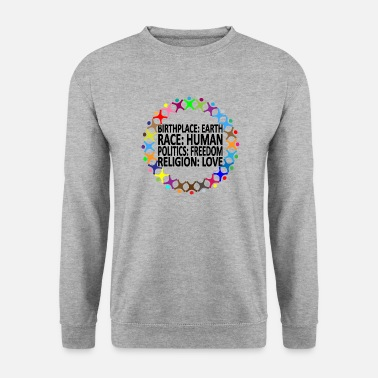 Religion Against racism (English shirt) - Men's Sweatshirt