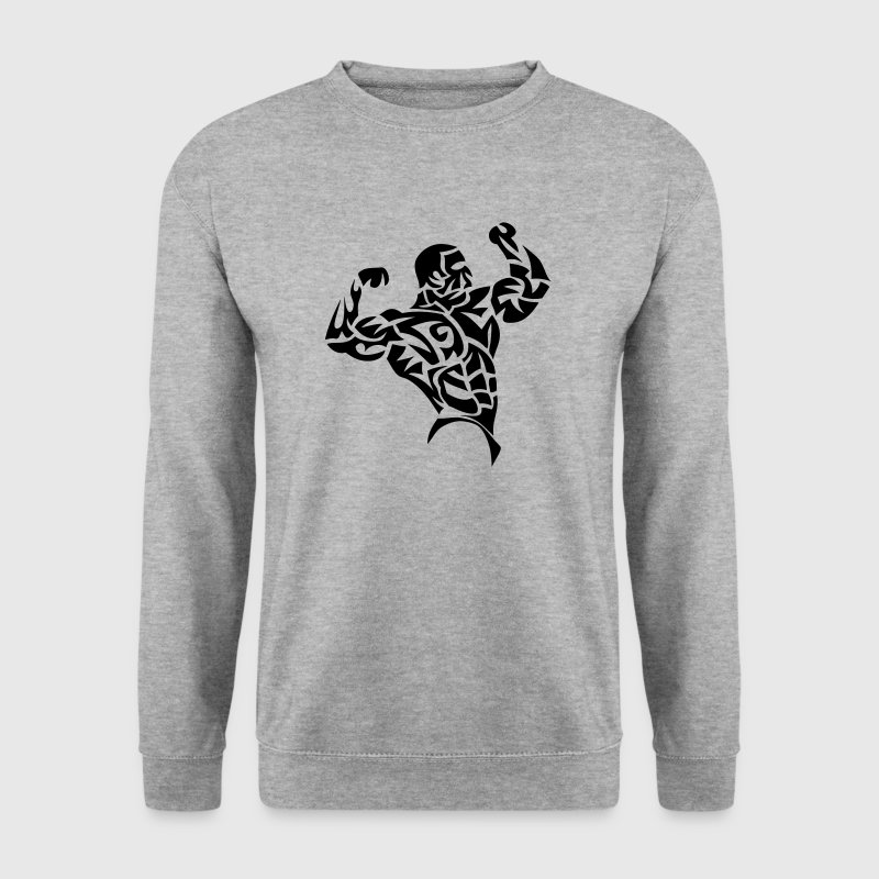 bodybuilder musculation muscu tribal 3 - Men's Sweatshirt