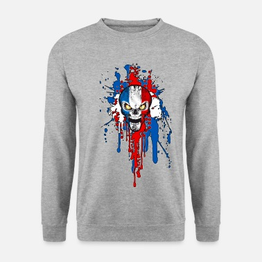 Patriotique France skull 03 - Sweat-shirt Homme