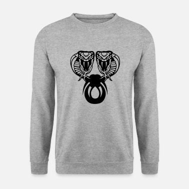Serpent serpent cobra snake double tete 910 - Sweat-shirt Homme