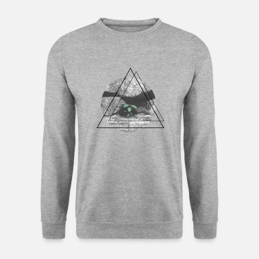 Triangle Giroflées [GeoPic] - Sweat-shirt Homme
