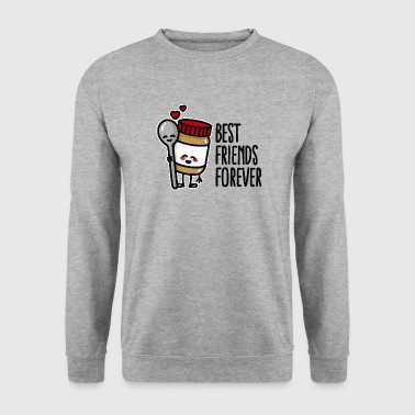 Best friends forever peanut butter / spoon BFF - Sweat-shirt Homme