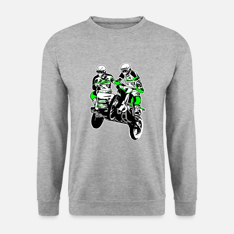 Motorcycle Hoodies & Sweatshirts - Sidecar MotoCross - Men's Sweatshirt salt & pepper