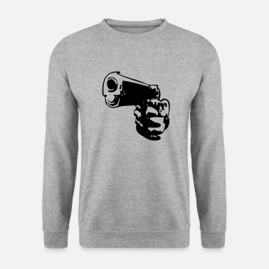 Pistolet flingue arme pistolet main hand - Sweat-shirt Homme