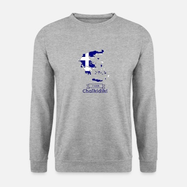 Greece Greece T-shirt i love Chalkidiki - Men's Sweatshirt
