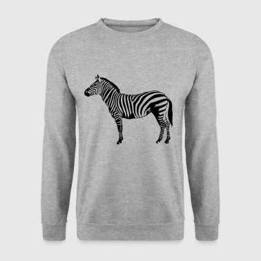 Zebra wildlife wilderness nature striped - Men's Sweatshirt
