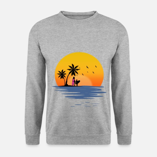 Vacances Sweat-shirts - plage - Sweat-shirt Homme gris chiné