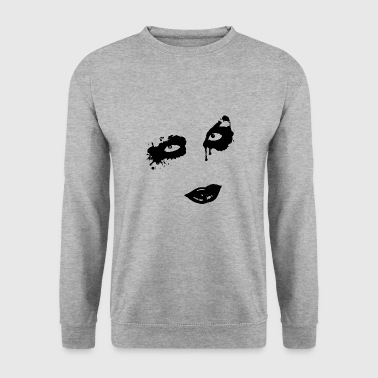 Visage gothique Zombie - Sweat-shirt Homme