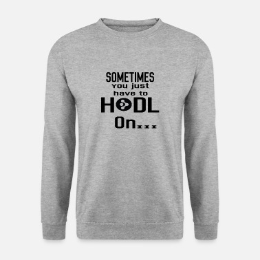 Wild &amp Gift Hodl Hold on AMP crypto crypto coin - Mannen sweater
