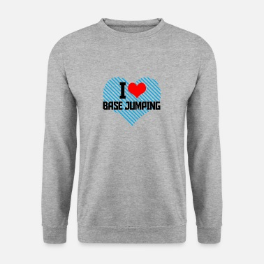I Heart i heart basejumping - Sweat-shirt Homme