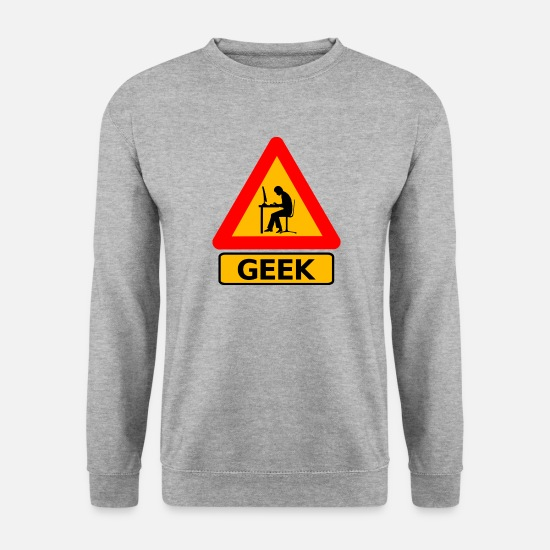 Careful Hoodies & Sweatshirts - Geek - Men's Sweatshirt salt & pepper