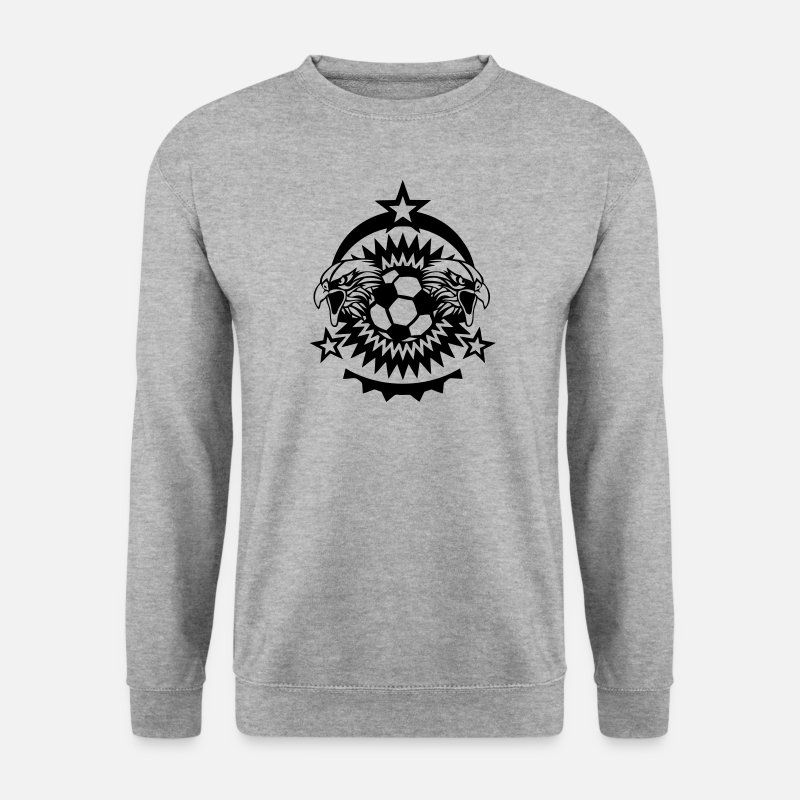 Aigle Sweat-shirts - football logo aigle sport club ballon - Sweat-shirt Homme gris chiné