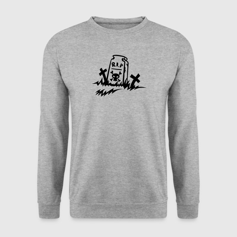 rip reste in peace tombe dessin - Sweat-shirt Homme