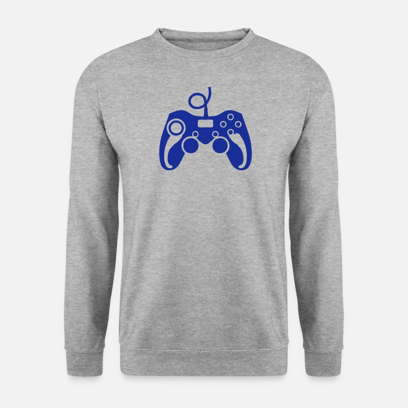 Joystick Vidéo Sweat-shirts - manette jeux video paddle pc 29 - Sweat-shirt Homme gris chiné