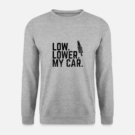 Châssis Sweat-shirts - FAIBLE Baisser ma voiture - Auto Tuning - Sweat-shirt Homme gris chiné
