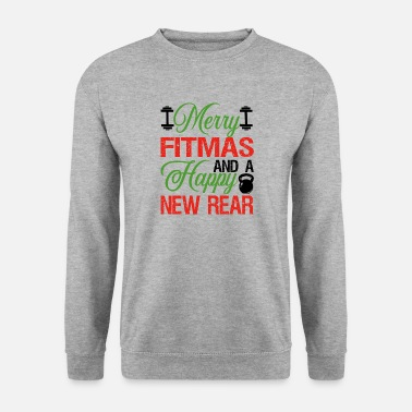 Glædelig Fitmas og Happy New Back Fitness Xmas - Herre sweater
