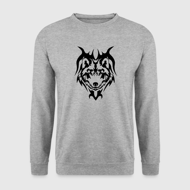 Tribal Tattoo Wolf wildes Tier 5 - Männer Pullover